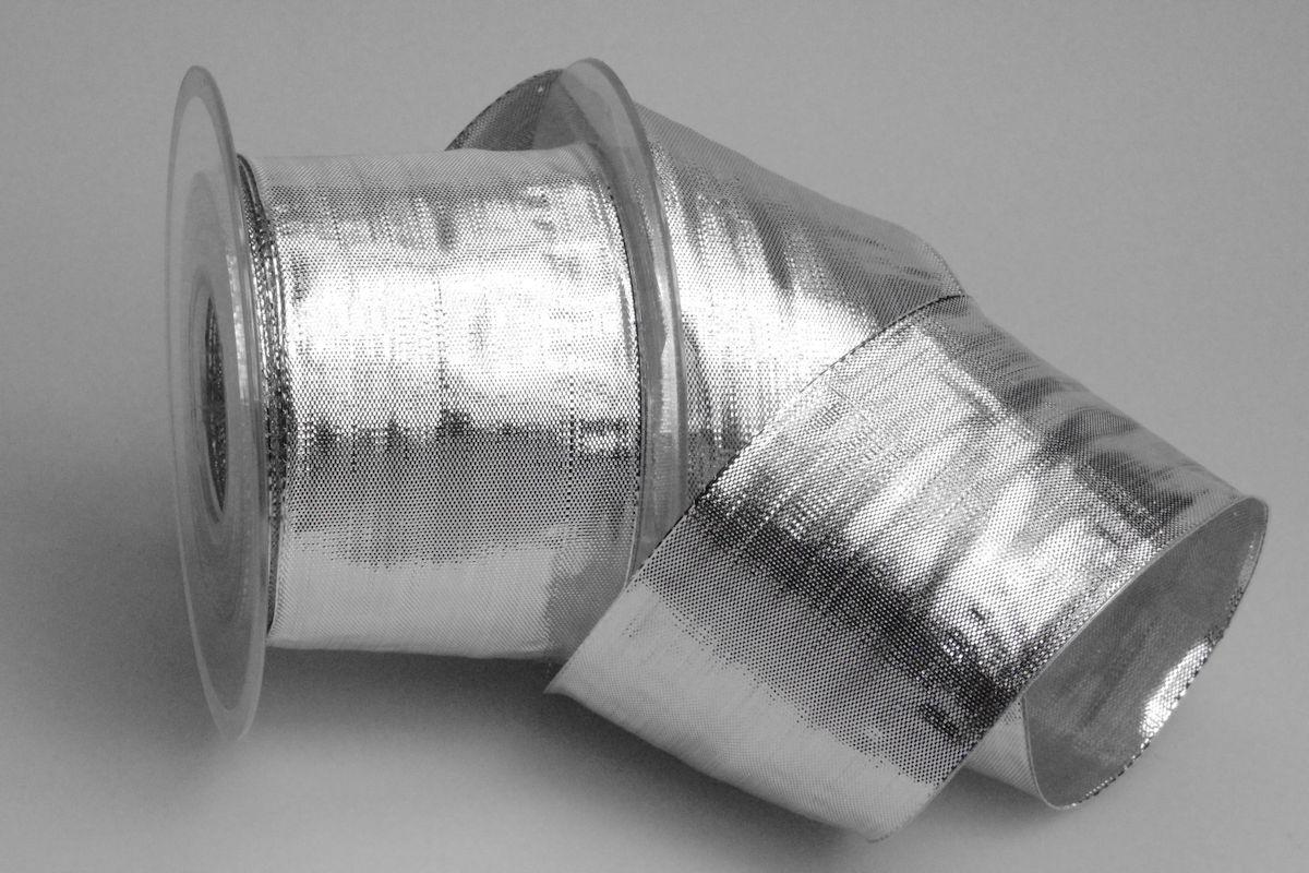 Silberband Silveriness Silber mit Draht 65 mm