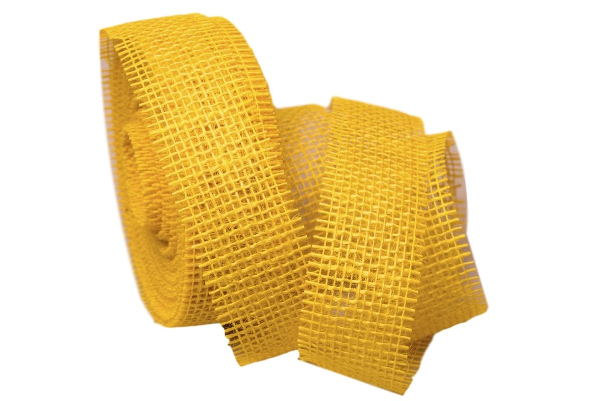 dekoband jute gelb 40mm ohne draht jetzt g nstig kaufen christa. Black Bedroom Furniture Sets. Home Design Ideas