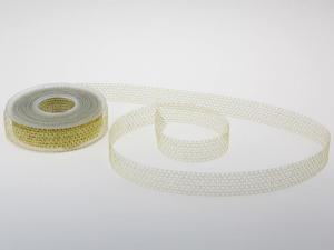Gitterband Glitzer Gold ohne Draht 25 mm