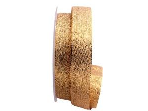 Goldband Sollievo gold / rot 25mm ohne Draht