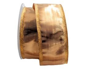 Goldband Klondike altgold 65mm mit Draht