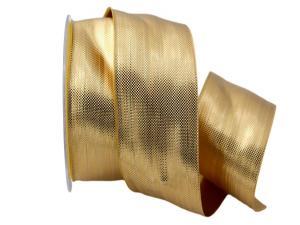 Weihnachtsband Scintillante gold 50mm ohne Draht - im Bänder Großhandel günstig kaufen!