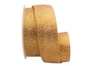 Goldband Sollievo gold / rot 40mm ohne Draht