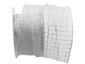 Gitterband Griglia d'argento silber 65mm mit Draht