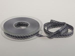 Weihnachtsband Gloria 15mm grau ohne Draht - Geschenkband günstig online kaufen!