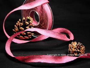 Uniband Brillanz Pink mit Draht 15mm Glitzerrand