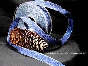 Uniband Brillanz Blau mit Draht 15mm Glitzerrand