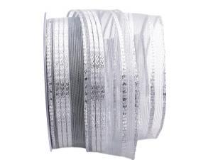 Silberband Fili di lurex silber 40mm mit Draht