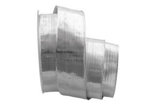 Silberband Pianura silber 40mm mit Draht