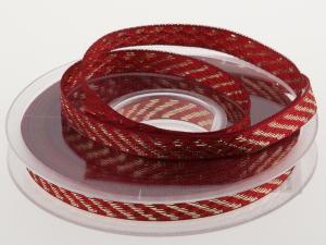 Weihnachtsband Gloria ohne Draht 10 mm rot - Geschenkband günstig online kaufen!