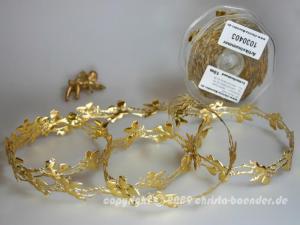 Weihnachtsband Engelchen Gold ohne Draht 25mm