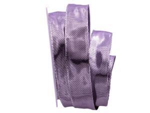 Silberband Flieder Shine pink 25mm mit Draht
