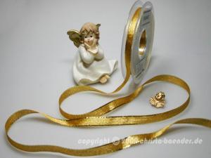 Brokatbändchen Gold ohne Draht 10mm