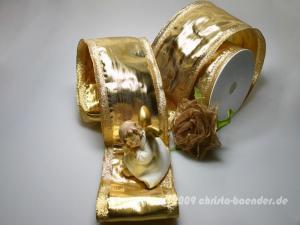 Goldband Klondyke Gold mit Draht 100mm
