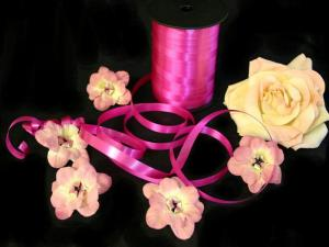 Polyband Pink ohne Draht 10mm