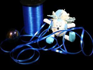 Polyband Blau ohne Draht 5mm