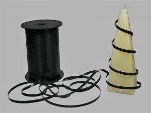 Polyband Schwarz ohne Draht 5mm