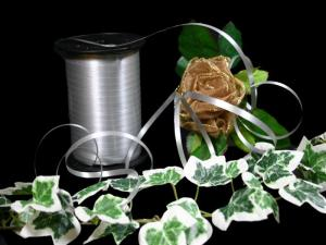 Polyband Silbergrau ohne Draht 5mm