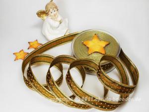 Weihnachtsband Silvretta Grün mit Draht 25mm