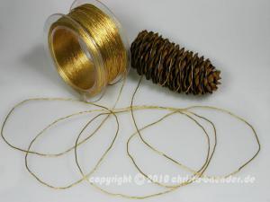 Schnur Elastikschnur Gold ohne Draht 1-2mm