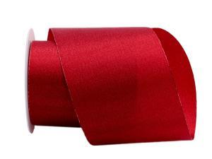 Weihnachtsband Brokatband rot 100mm ohne Draht - im Bänder Großhandel günstig kaufen!