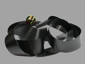 Polyband Schwarz ohne Draht 49mm