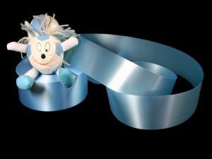 Polyband Hellblau ohne Draht 49mm