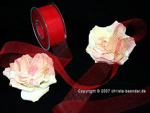 Tüllband Rot ohne Draht 40mm