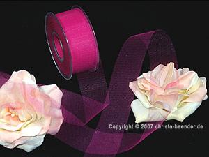 Tüllband Pink ohne Draht 40mm