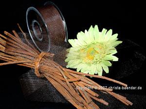 Tüllband Braun ohne Draht 40mm