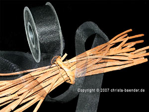 Tüllband Schwarz ohne Draht 40mm