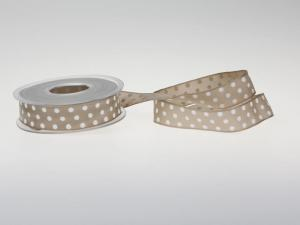 Motivband Punkteband Toffee mit Draht 25mm - Geschenkband günstig online kaufen!
