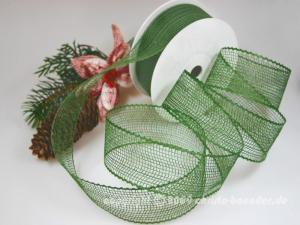 Gitterband Feingitter Grün ohne Draht 50mm