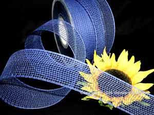 Gitterband Feingitter Blau ohne Draht 50mm