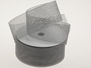 Gitterband Feingitter Silber ohne Draht 50mm