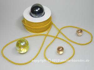 Kordel Gelb ohne Draht 4mm