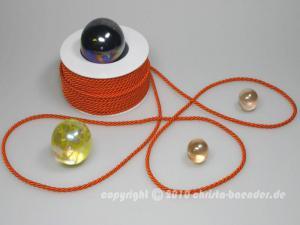 Kordel Orange ohne Draht 4mm