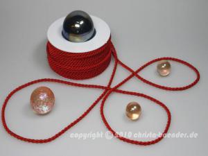 Kordel Rot ohne Draht 4mm