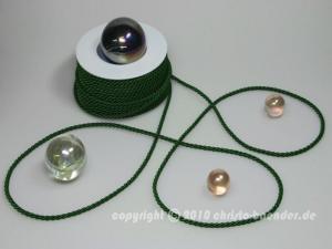 Kordel Dunkelgrün ohne Draht 4mm