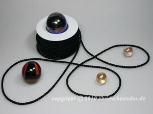 Kordel Schwarz ohne Draht 4mm