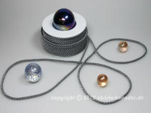 Kordel Silbergrau ohne Draht 4mm