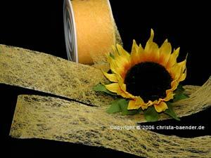 Vliesband Gelb ohne Draht 40mm