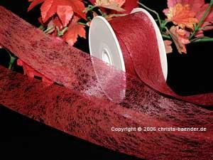 Vliesband Bordeaux ohne Draht 40mm