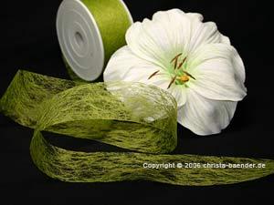 Vliesband Olive ohne Draht 40mm