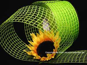 Gitterband Grobgitter Hellgrün ohne Draht 65mm