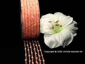 Gitterband Knotengitter Lachs ohne Draht 55mm