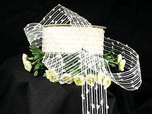 Gitterband Knotengitter Weiß ohne Draht 55mm