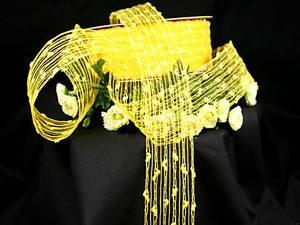 Gitterband Knotengitter Gelb ohne Draht 55mm