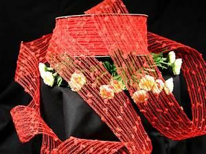 Gitterband Knotengitter Rot ohne Draht 55mm