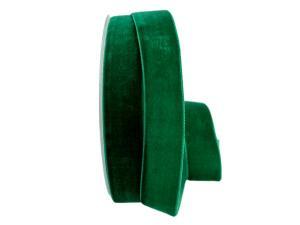 Samtband 25mm grün  ohne Draht